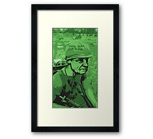 War Face Framed Print