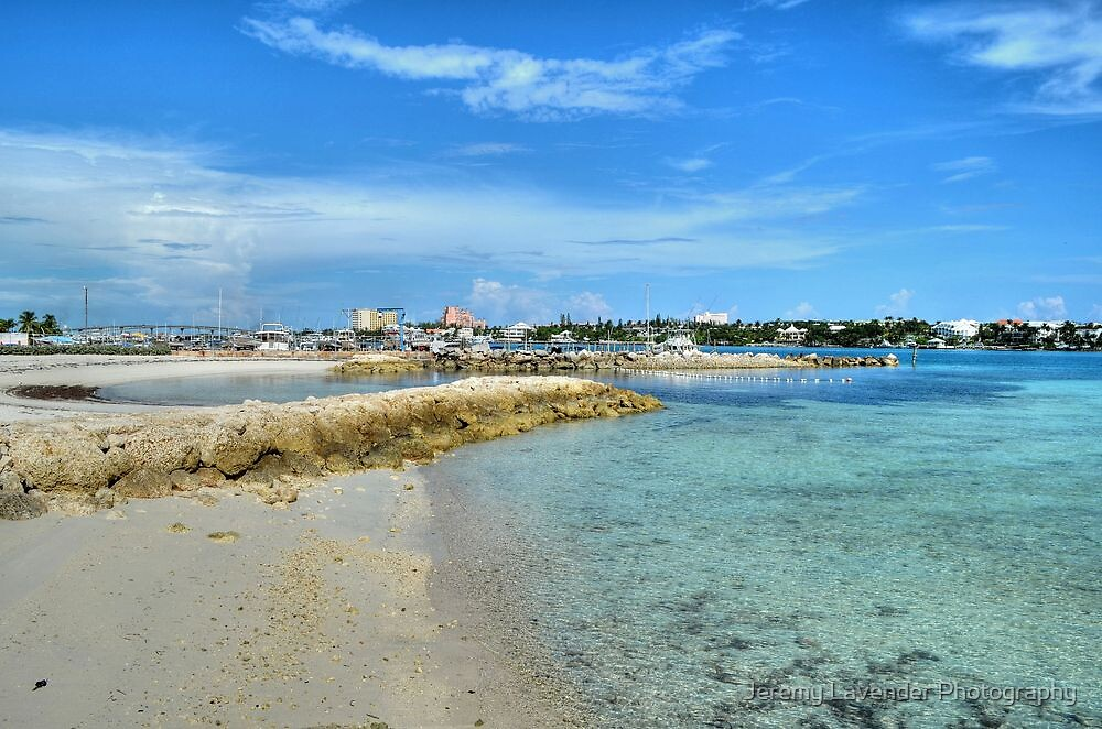 View of Paradise Island from Fort Montagu in Nassau, The Bahamas by Jeremy Lavender Photography