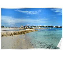 View of Paradise Island from Fort Montagu in Nassau, The Bahamas Poster