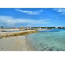 View of Paradise Island from Fort Montagu in Nassau, The Bahamas Photographic Print