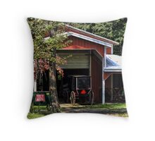 Two buggy garage Throw Pillow