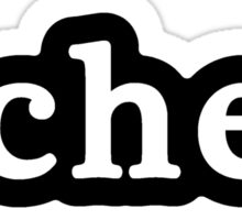 Chef - Hashtag - Black & White Sticker