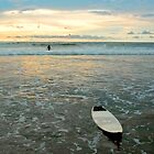 Playa Tamarindo Surf and Sunset by Eyal Nahmias