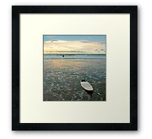 Playa Tamarindo Surf and Sunset Framed Print