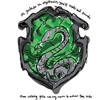 Slytherin Photographic Print