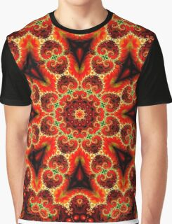 Mirrored Fractal Graphic T-Shirt