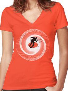 Vertigo a GoGo Women's Fitted V-Neck T-Shirt