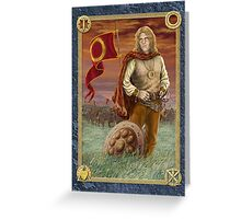 Fire and Sword -The Keys of Power Greeting Card