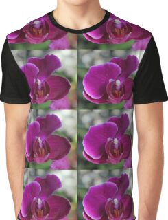 Purple Orchid Flower Graphic T-Shirt