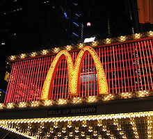 MacDonald's Marquee, 42nd Street, NYC by Jane Neill-Hancock
