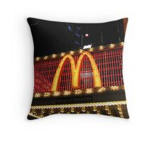 MacDonald's Marquee, 42nd Street, NYC Throw Pillow