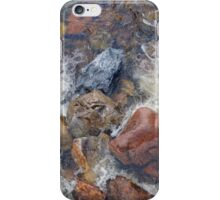 River rocks and rushing water iPhone Case/Skin