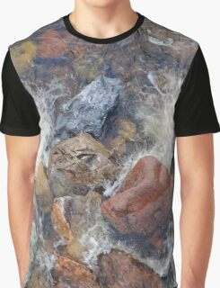 River rocks and rushing water Graphic T-Shirt