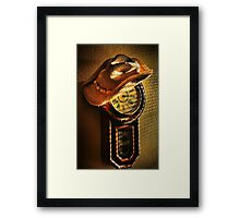Where You Hang Your Hat Is Home Framed Print