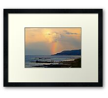Adventure under the Rainbow Framed Print