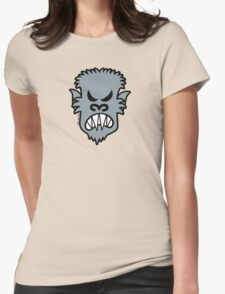 Angry Halloween Werewolf Womens Fitted T-Shirt