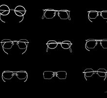 Eyeglasses 6C hand drawn by mandalafractal