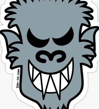 Naughty Halloween Werewolf Sticker