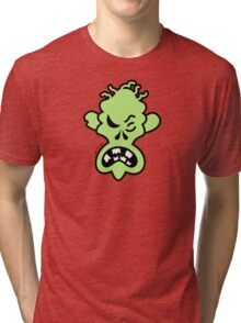 Angry Halloween Zombie Tri-blend T-Shirt
