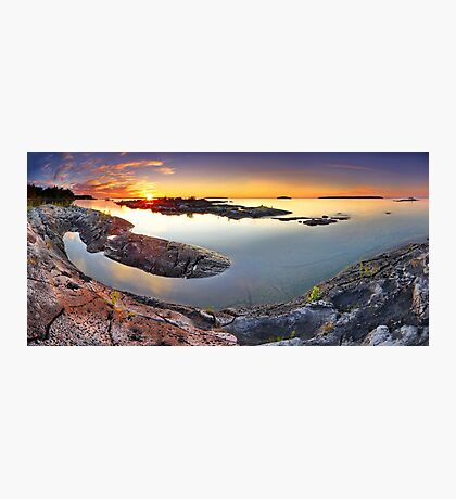 Sunset from Dunk's Point in Tobermory Photographic Print