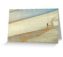 "Shore Surfing, skim surfing on the shallow waves on the beach at ""Avila Beach"" California Greeting Card"
