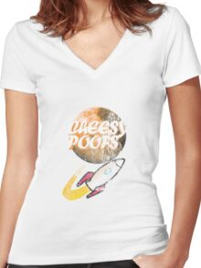 Cheesy Poofs Women's Fitted V-Neck T-Shirt