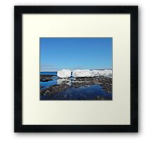 Icebergs Beached by the tides Framed Print
