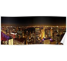 Night Central Park from the Rockefeller in New York Poster