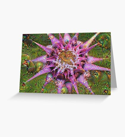 Alien Flower Machine Dreams Greeting Card