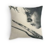 Edward Scissorhands Throw Pillow