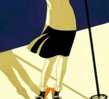 Vintage Swiss Ski sport poster, ski switzerland Sticker