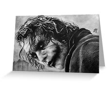 The joker - Batman - Dark Knight - Heath Ledger Greeting Card
