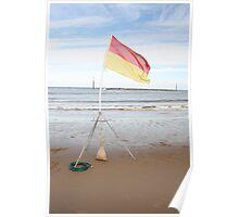 flag the beach Poster