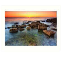 Shelly Beach Sunrise Art Print