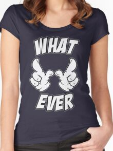 Whatever Cartoon Hands Women's Fitted Scoop T-Shirt