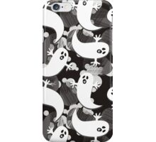 black white gray ghosts iPhone Case/Skin