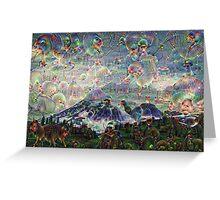 Mt. Rainier Machine Dreams #2 Greeting Card