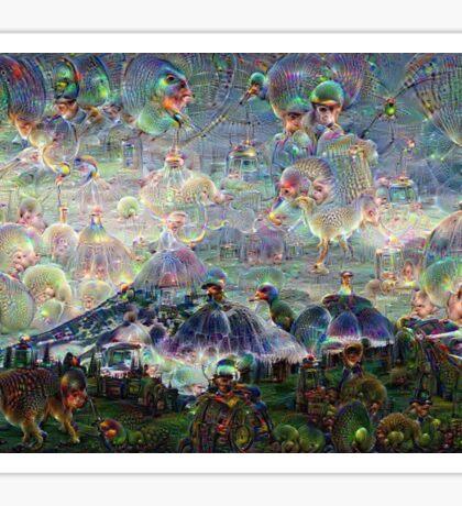 Mt. Rainier Machine Dreams #2 Sticker