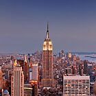 View of Manhattan from the Top of the Rock, Rockefeller Center in New York by Zoltán Duray