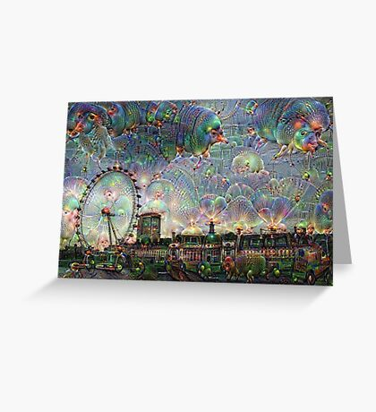 London Eye Machine Dreams Greeting Card