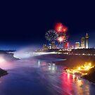 Fireworks at Niagara Falls by Zoltán Duray