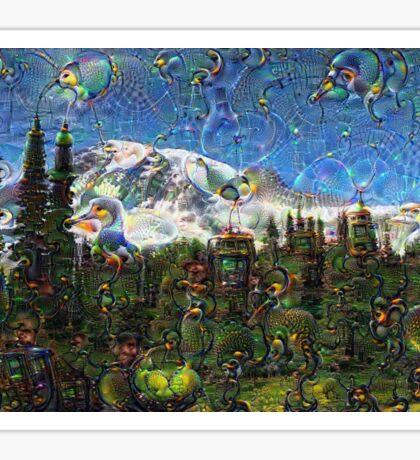 Mt. Rainier Machine Dreams #1 Sticker