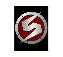 Metroid/Screw Attack Logos Art Print