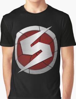 Metroid/Screw Attack Logos Graphic T-Shirt