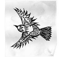 Black and White Bird Poster