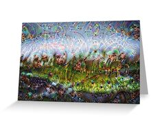 Miniature Moss-scape Machine Dreams Greeting Card