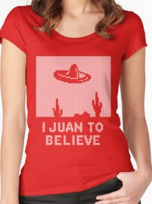 I Juan to Believe - Ugly Christmas Women's Fitted Scoop T-Shirt