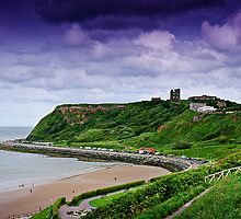 Scarborough Headland with Castle by Andrew Robinson