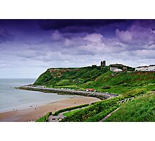 Scarborough Headland with Castle Photographic Print