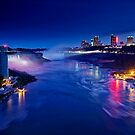 Niagara Falls at Night by Zoltán Duray